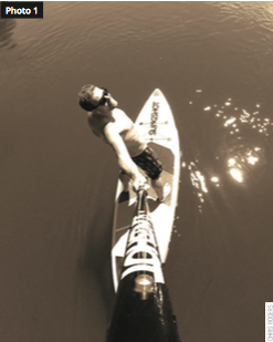 Author Cris, takes to StandUp Paddleboarding