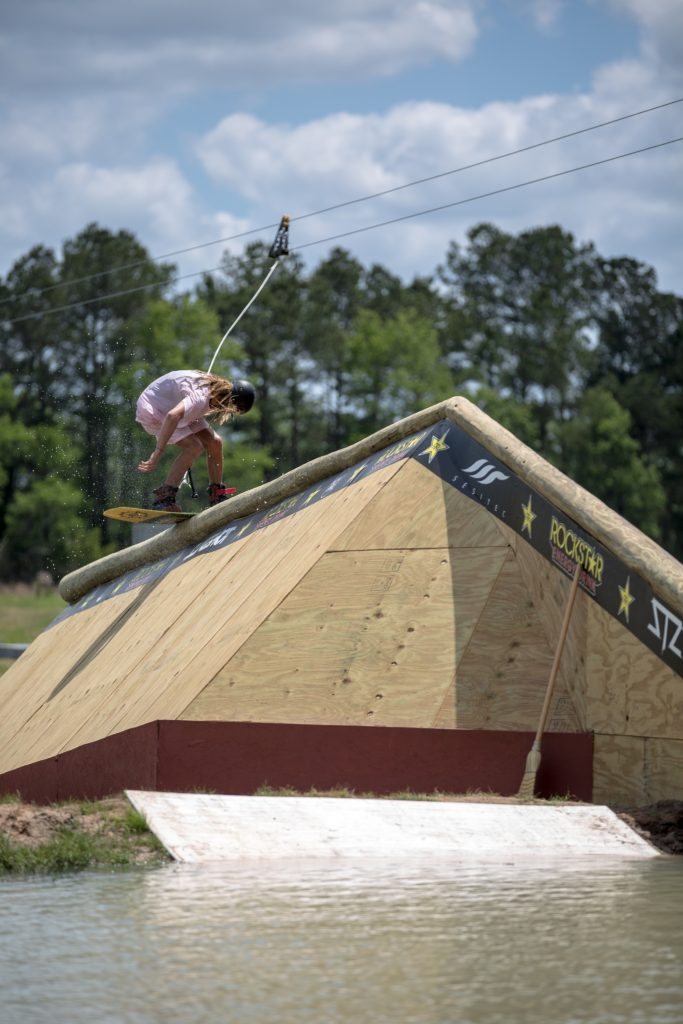 Blake Bishop on the yard sale cabin rail.
