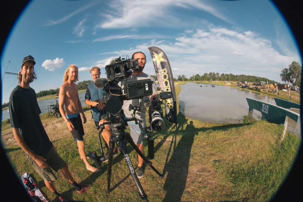 Steffen Vollert behind the camera at the Gold Coast Wake Park - photo by Matty Mulholland