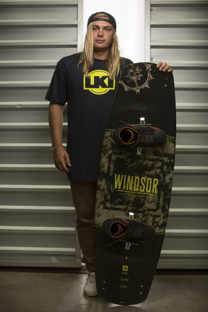 James WIndsor and the Windsor Pro wake board