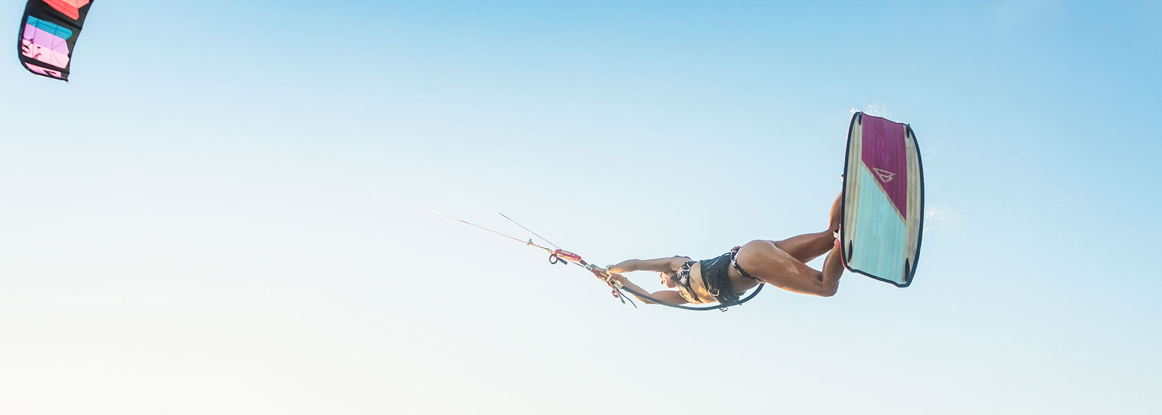female kiteboarder