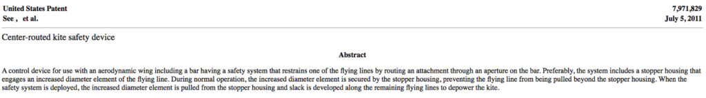 Bar Patent